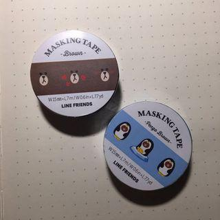 🚚 [WTS] LINE Friends Brown Masking Tape