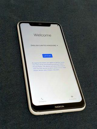 🚚 NOKIA 5.1 PLUS 3G/32G 白色(保固中)
