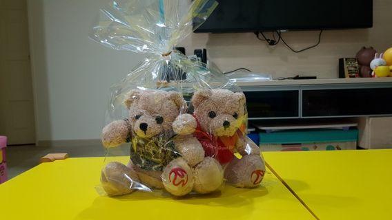 RWS pair of bear plush toys