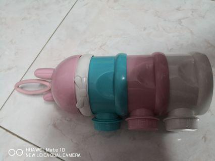 Portable Three Layer Stackable Milk Powder Container Dispenser