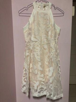 White beige Dress