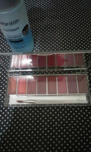 #BAPAU Wardah Lip Palette - Perfect Red - Bonus Eye Makeup Remover