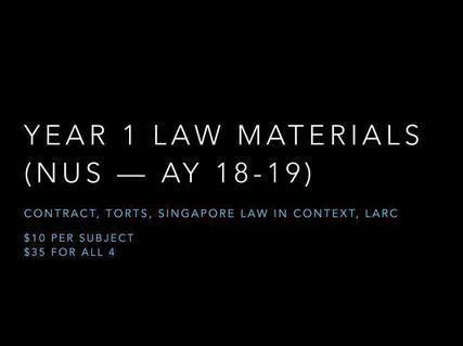 🚚 Year 1 NUS Law — all the materials you'll need!