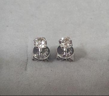 🚚 Solitaire Diamond Earrings 0.30ct (Authentic)