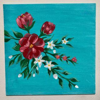 🚚 Flower Hand Painted Canvas