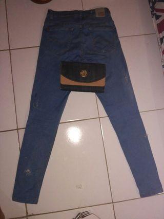 celana ripped size 27