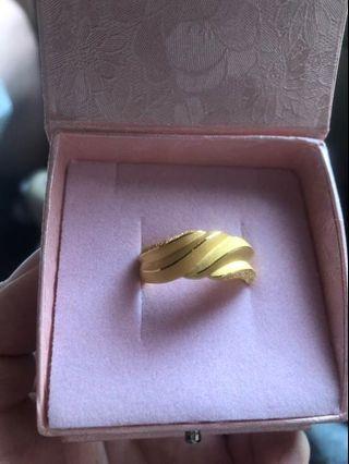 🚚 黃金純金戒指2.36錢