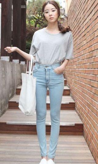 ulzzang skinny fit jeans