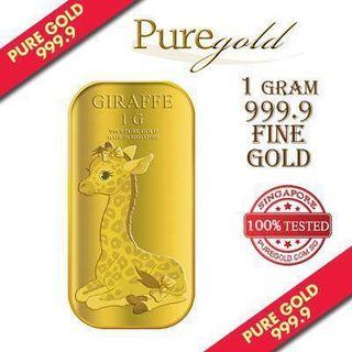 🚚 Puregold : 1g gold female giraffe limited edition 5000 pieces