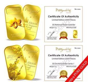 🚚 Puregold : 2g gold sg orchid limited edition 5000 pieces