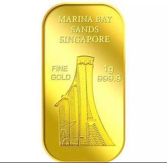 🚚 Limited edition 1 g gold sg Marina Bay Sands