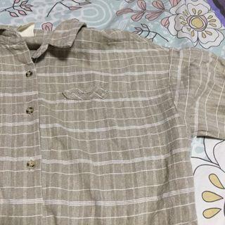 ulzzang grid blouse