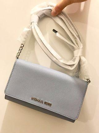 MICHAEL KORS wallet on chain WOC light blue