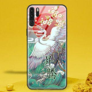💥 Huawei P30 Pro Tempered Glass Casing - 吉鹤升腾💥