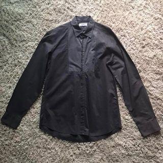 Kenzo dark brown LS shirt (Large)
