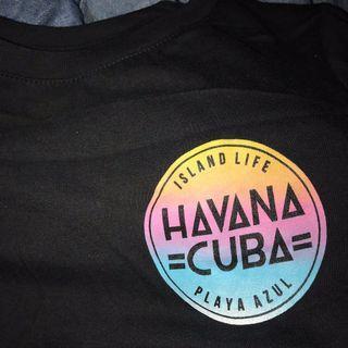 🚚 cotton on havana cuba tie up shirt