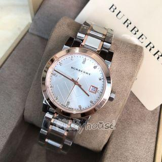 Silver Dial Two-tone Ladies Watch