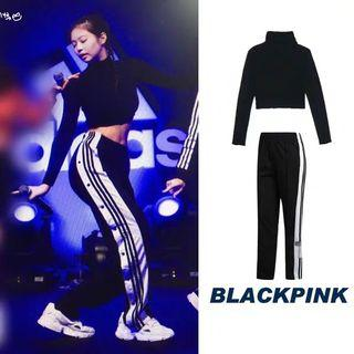 Black pink top&long pants (included Shipping)