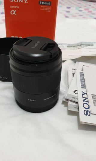 Lensa sony 50mm SEL