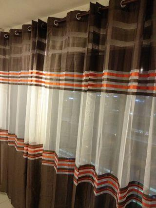 IKEA 2pc Eyelet Sheer Curtains (145 x 270 cm)