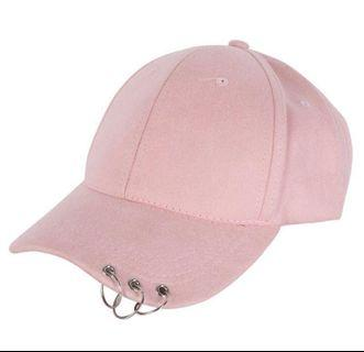 New! In Stock! Pink Cap with Piercings