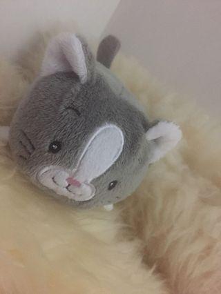 Kitty cat soft toy 灰色小貓毛公仔