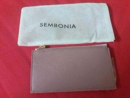 Authentic Sembonia pink leather pouch