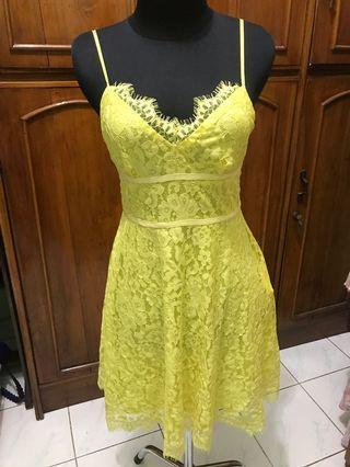 #BAPAU Dress brukat kuning