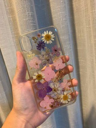 🚚 IPHONE X CLEAR FLOWER CASE
