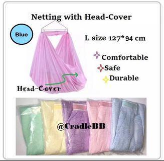 Spring cot Net-Blue color