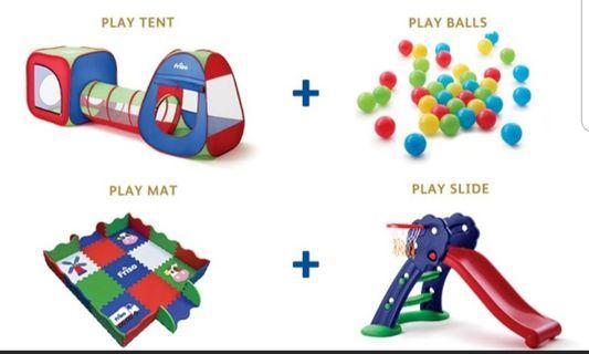 Friso Playground Set - Tent, Slide, Mat & Balls