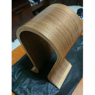 🚚 OMEGA U型 木製 耳罩 耳機架