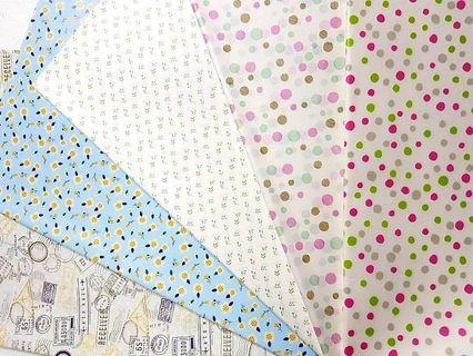 Wrapping Paper ↪ Floral/Polkadot/ Stamp Print  💱 $0.80 Each Sheet/ $6.00 for 10 Sheets