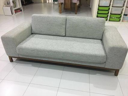 3 seater sofa - Grey white colour