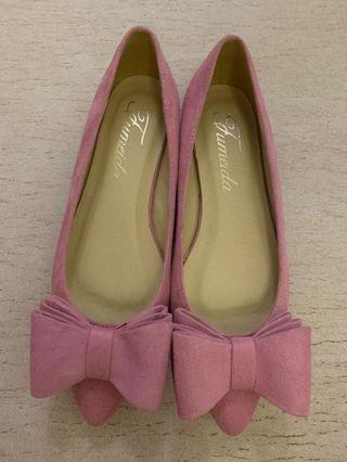 粉紅色蝴蝶結平底鞋Chanel Celine Dior Loewe lv gucci