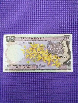 Sg old $25 orchid  notes