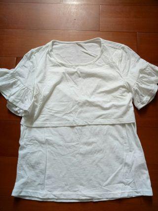 🚚 白色哺乳衣