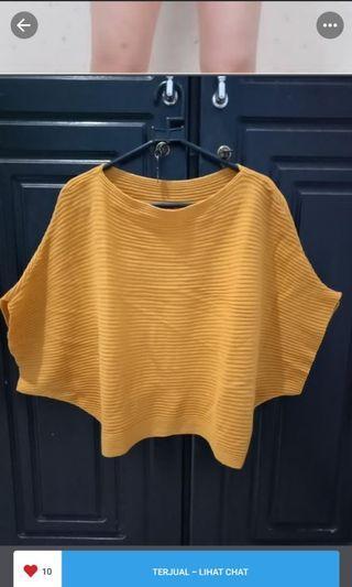#BAPAU Victoria knit top mustard