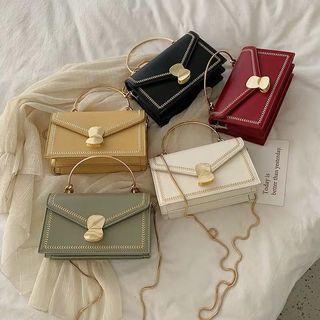 🚚 附實拍 預購 夏季新款 ins 鏈條包 手提包 金色鍊條包 小方包 拉鏈 可拆式