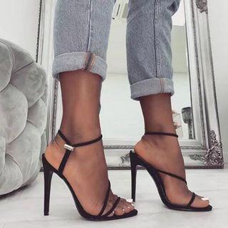 🚚 預購 歐美系超美女鞋 螢光色系 細跟高跟鞋 線條