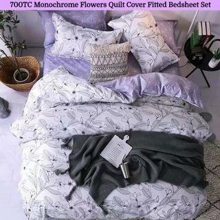 🔥Hari Raya🔥 Soft Fitted Bedsheet Quilt Cover Set