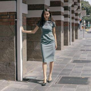 Younghungryfree Truly Midi in Antique Green