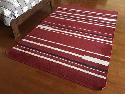 Red design carpet