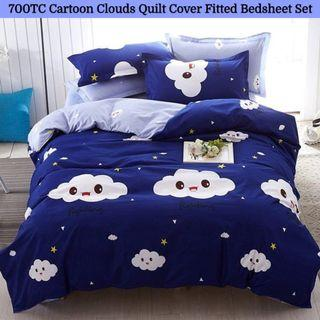 🔥Hari Raya🔥Cartoon Soft Fitted Bedsheet Quilt Cover Set
