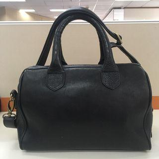 #BAPAU BLACK GENUINE LEATHER BAG