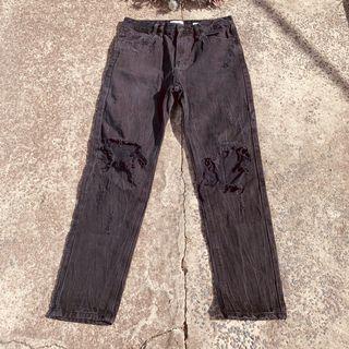 Men's black distressed Insight jeans size 30
