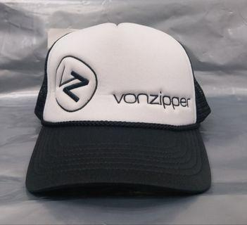 VON ZIPPER CAP NEW Unisex MENS MOBY CLASSIC TRUCKER SURF Red White Surf Skate