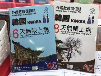 韓國上網卡 5日 6日 7日 8日 韓國無限上網 SK telecom 網絡
