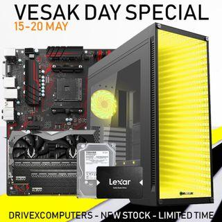 [NEW SET] RYZEN 5 2600 + RTX 2060 6GB DESKTOP PC!! -Vesak Special-