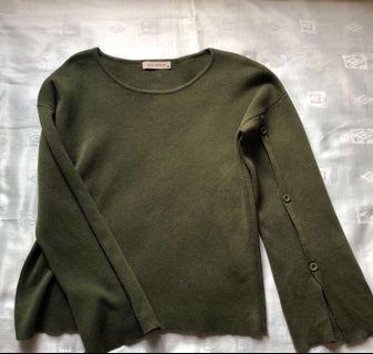 Sans&Sans Emerald Knitted Sweater